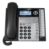 Corded 4-line telephone with base speakerphone and expandable to 16 stations
