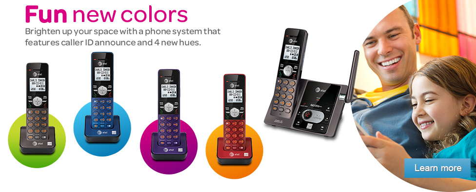 Brighten up your space with a phone system that features caller ID announce and 4 new hues.