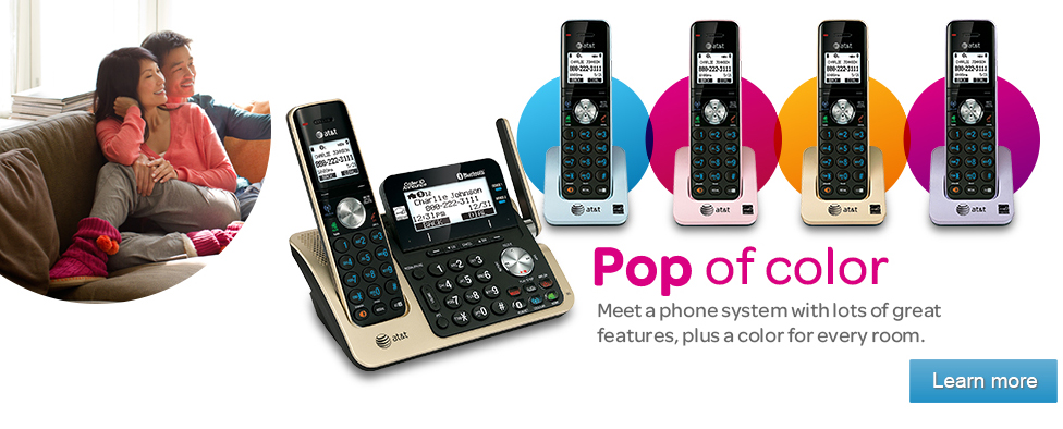 Pop of color.  Meet a phone system with lots of great features, plus a color for every room.