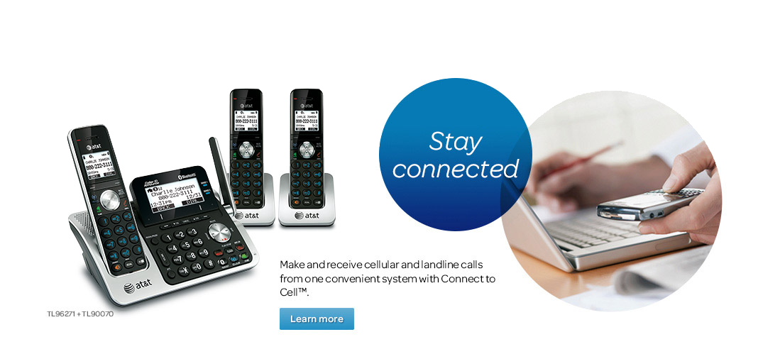Stay connected.  Make and receive cellular and landline calls from one convenient system with Connect to Cell™