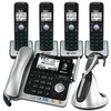 2-line 4 handset Connect to Cell™ corded/cordless answering system with caller ID/call waiting