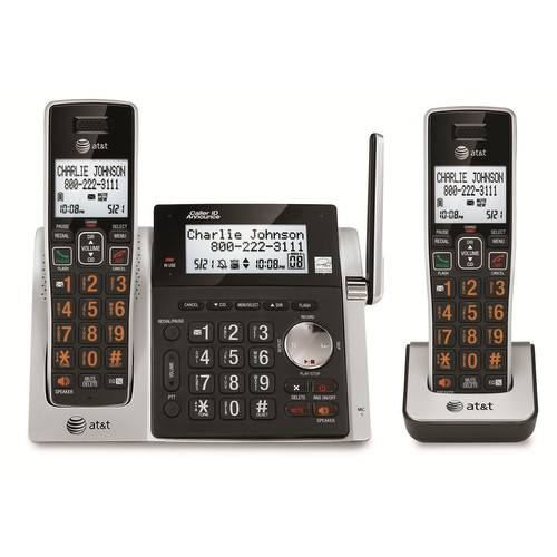 2 Handset Cordless Answering System With Dual Caller Id Call Waiting2