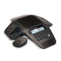 Conference speakerphone with wireless mics