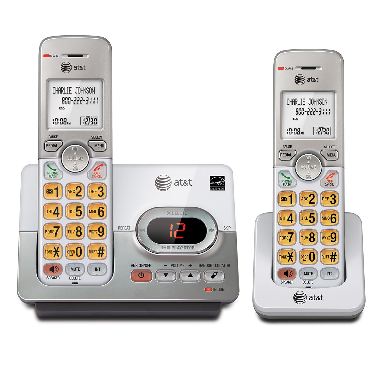 2 handset cordless answering system with caller ID/call waiting