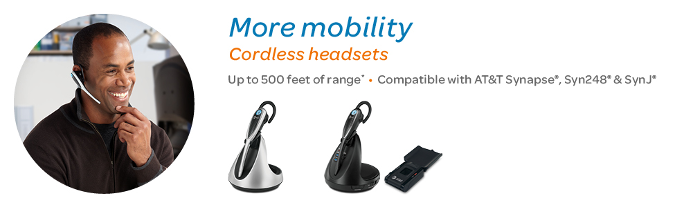 SynJ® cordless business phone systems. Unsurpassed range up to 500 feet