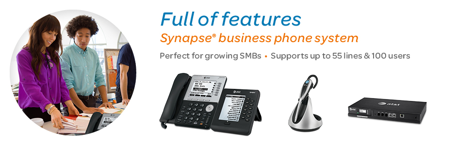 Synapse® business phone systems. customizable to support up to 100